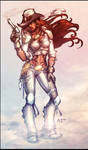 Steampunk Cowgirl COLOR