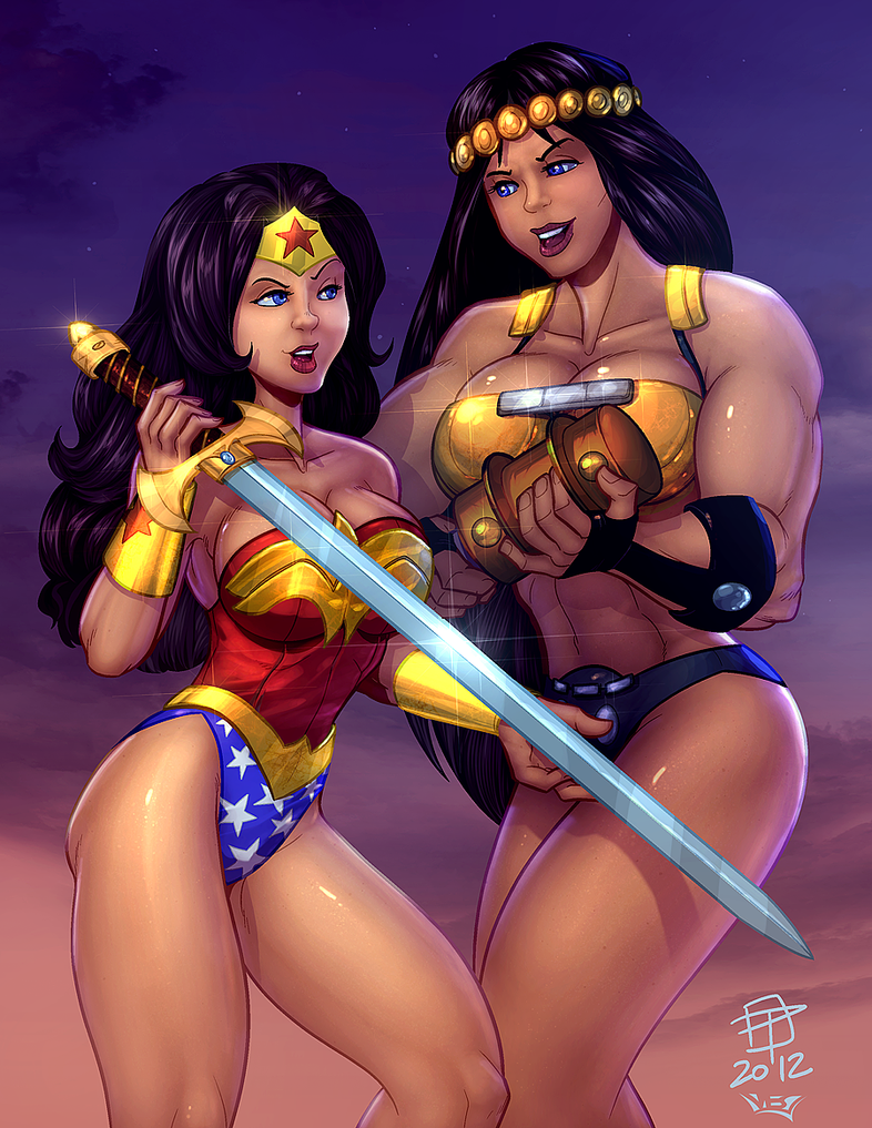 Wonder Woman and Barda_COLOR by vest