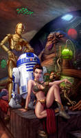 Slave Leia And Jabba The Hutt