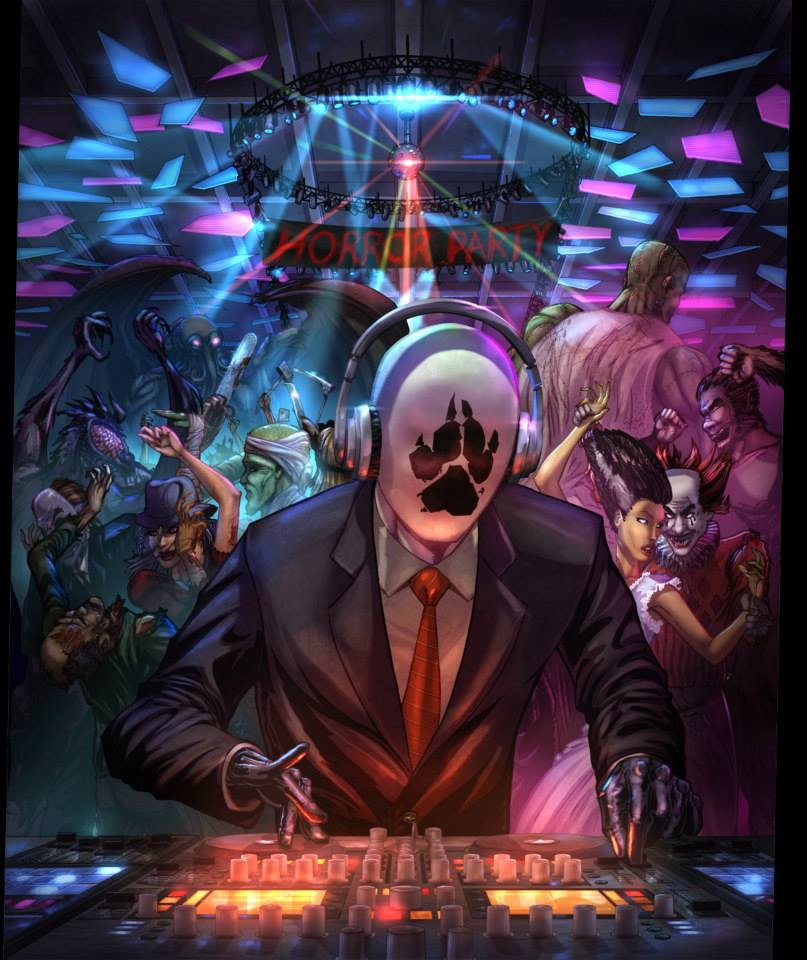 Horrorhound Records - Horror Party Vinyl Art by vest
