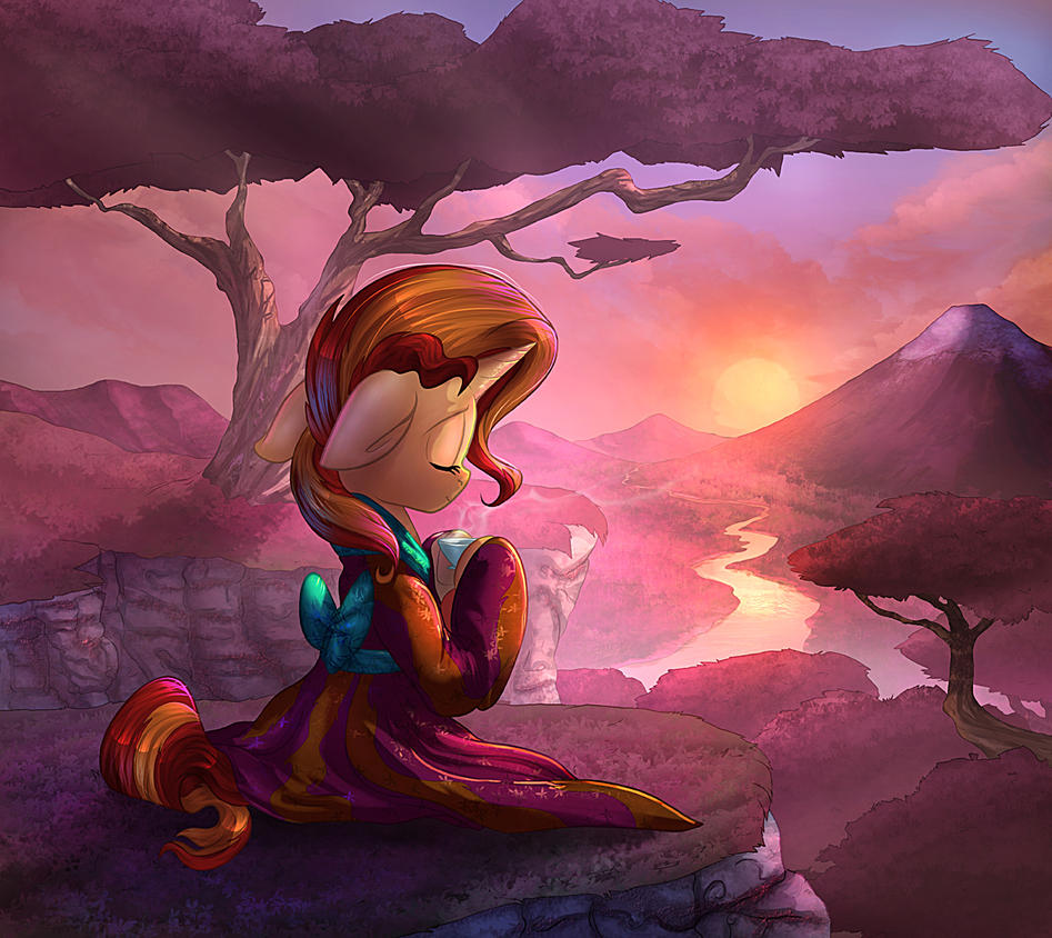 Sunset and Tea by vest