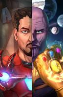 <b>Stark, Thanos Split Portrait</b><br><i>vest</i>