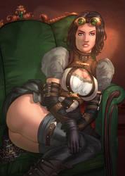 Lady Mechanika Reclining by vest