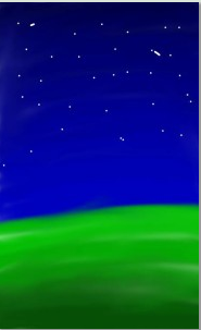 Night Sky Drawing by Sernity