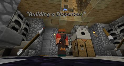 Minecraft - Building a dispenser!