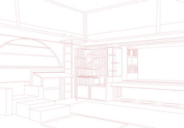 3D Room Lineart for Free Use