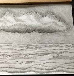 Sea and clouds sketch