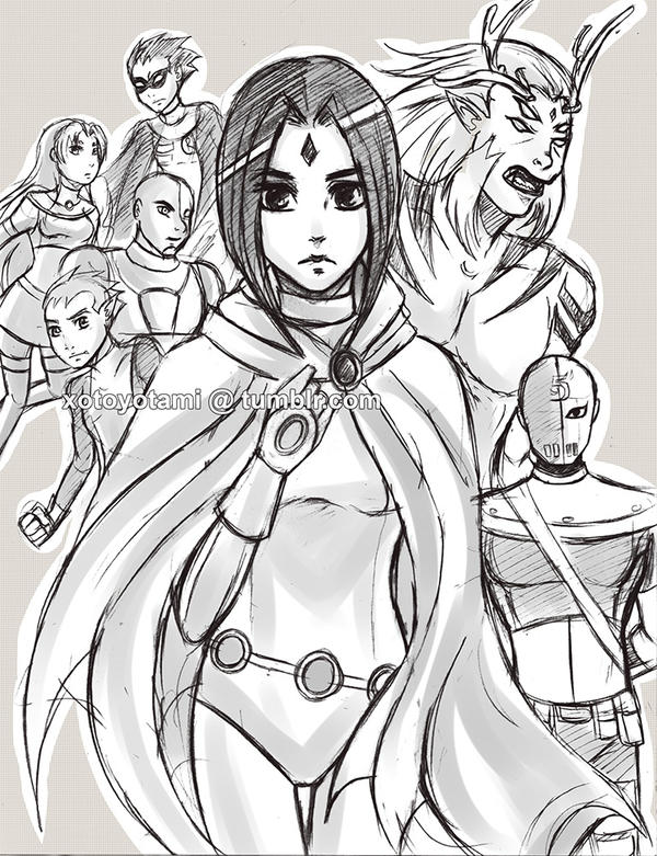 Raven sketch. by toyotami