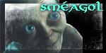 Smeagol stamp by SkekLa