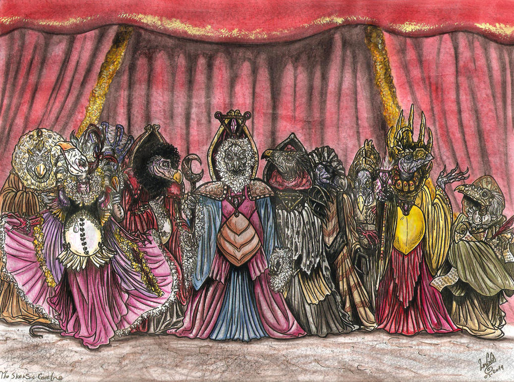 Skeksis court -Color. by smeagolisme
