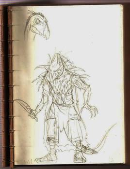 SkekMal  the Hunter- loose sketch concept