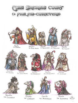 Chibi skeksis court plus 4 fan characters
