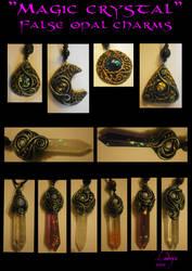 MAGIC CRYSTAL false opal charms