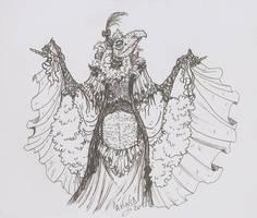 Inktober day 31-Fancy dress by SkekLa