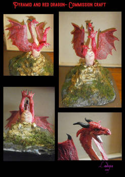 Pyramid and red dragon craft