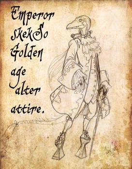 Emperor skekSo alter attire-Sketch art