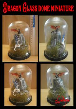 DRAGON glass dome miniature