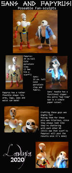 SANS AND PAPYRUS Poseable figures