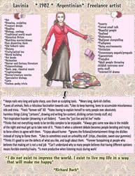 MEET THE ARTIST profile- Lavinia