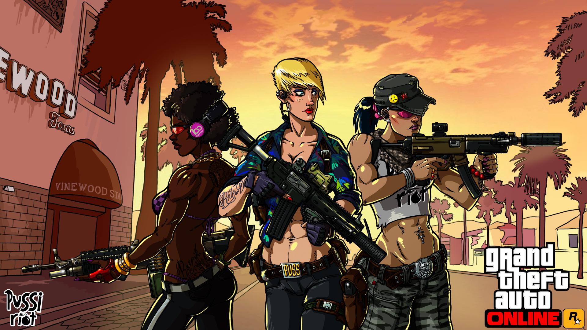 Pussi Riot GTAO fanart by A1eks