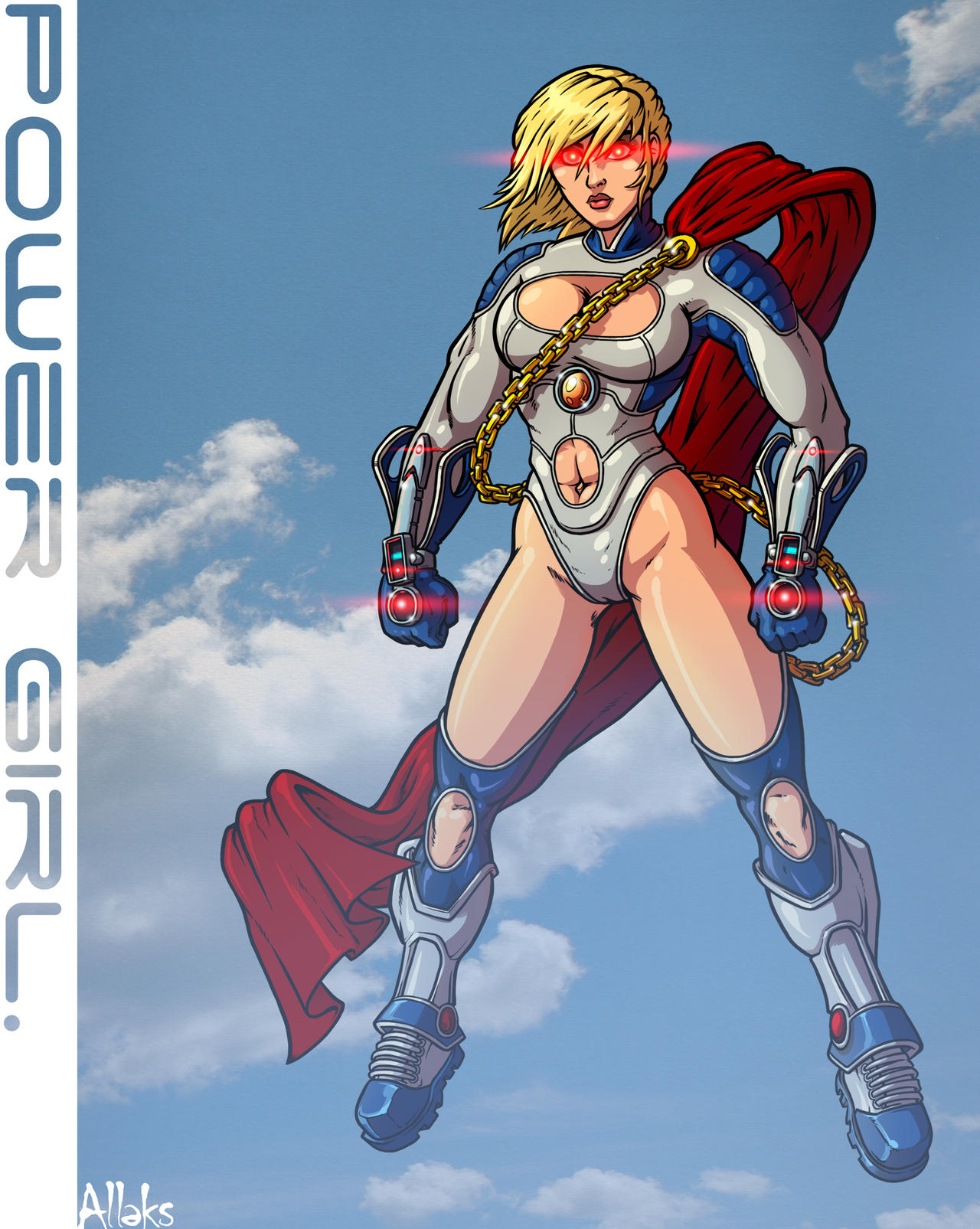 Ame Comi Power Girl by A1eks