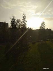 Sun going slowly away