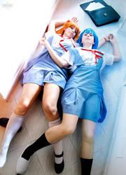 Rei Ayanami and Asuka S. Langley