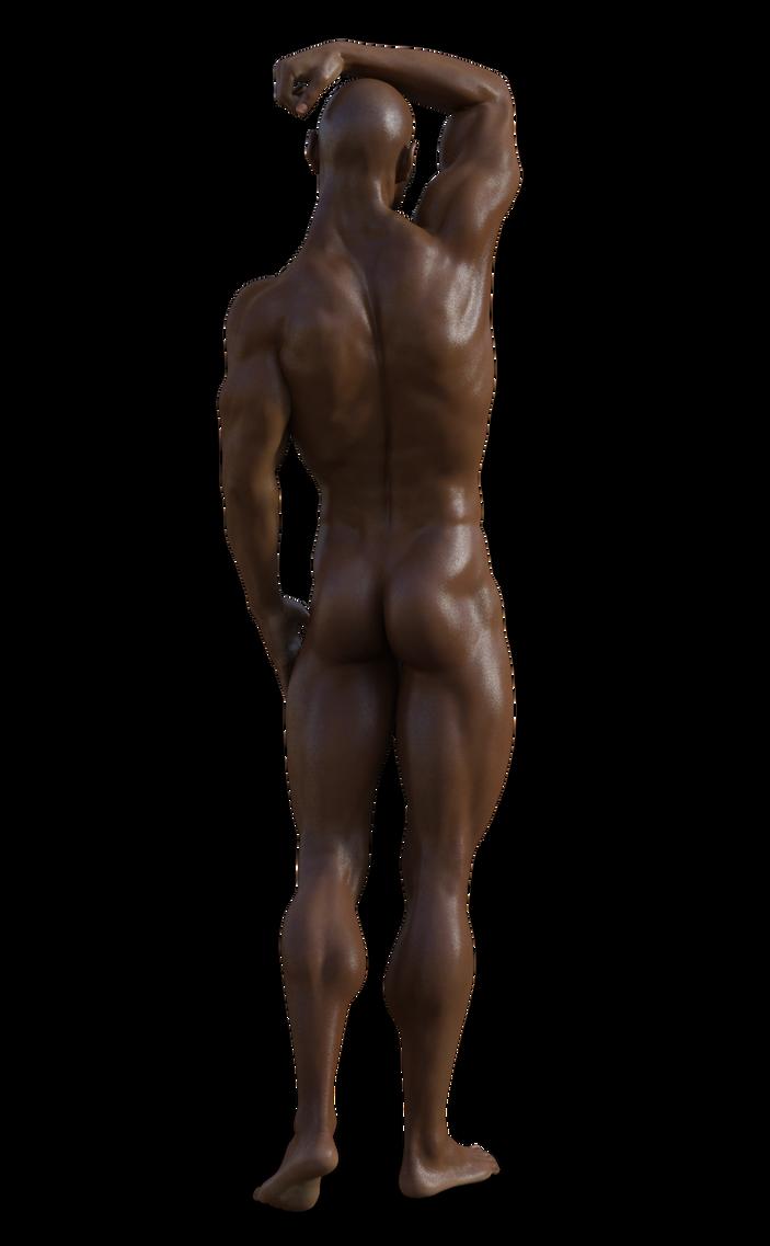 Genesis 3 Male back - no hair by Elkebru