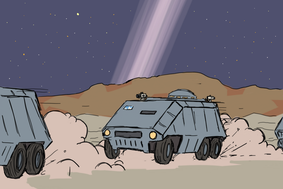 The road to Bechbruch by GalacticVikings