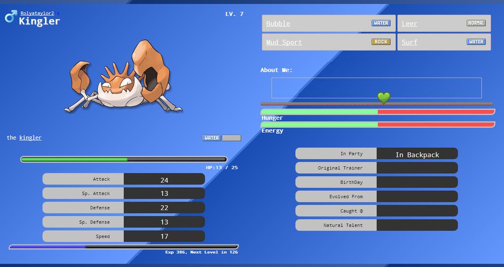 Krabby Pokemon/Drawnimal Lookup by Rolyataylor2