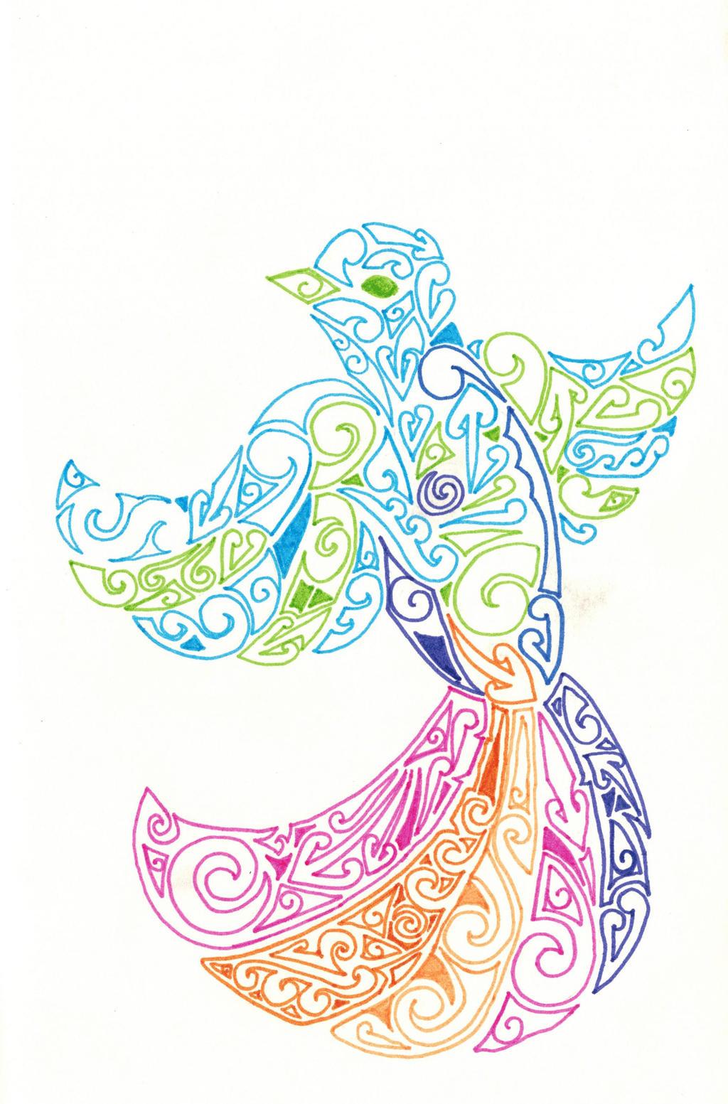 Maori Designs Bird By Prosthemadera On DeviantArt