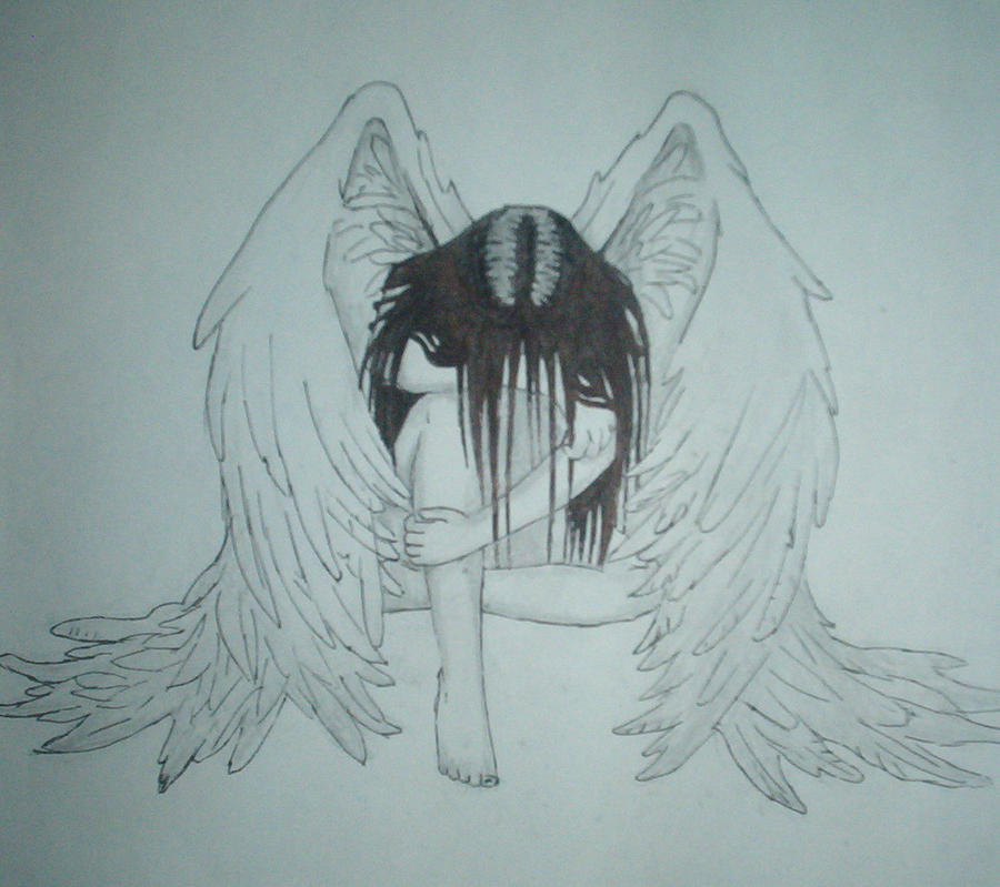 depressed angel drawings -#main