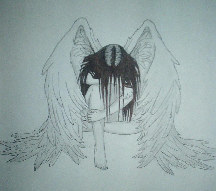 Sad Angel Drawing Sad Angel by Aequili