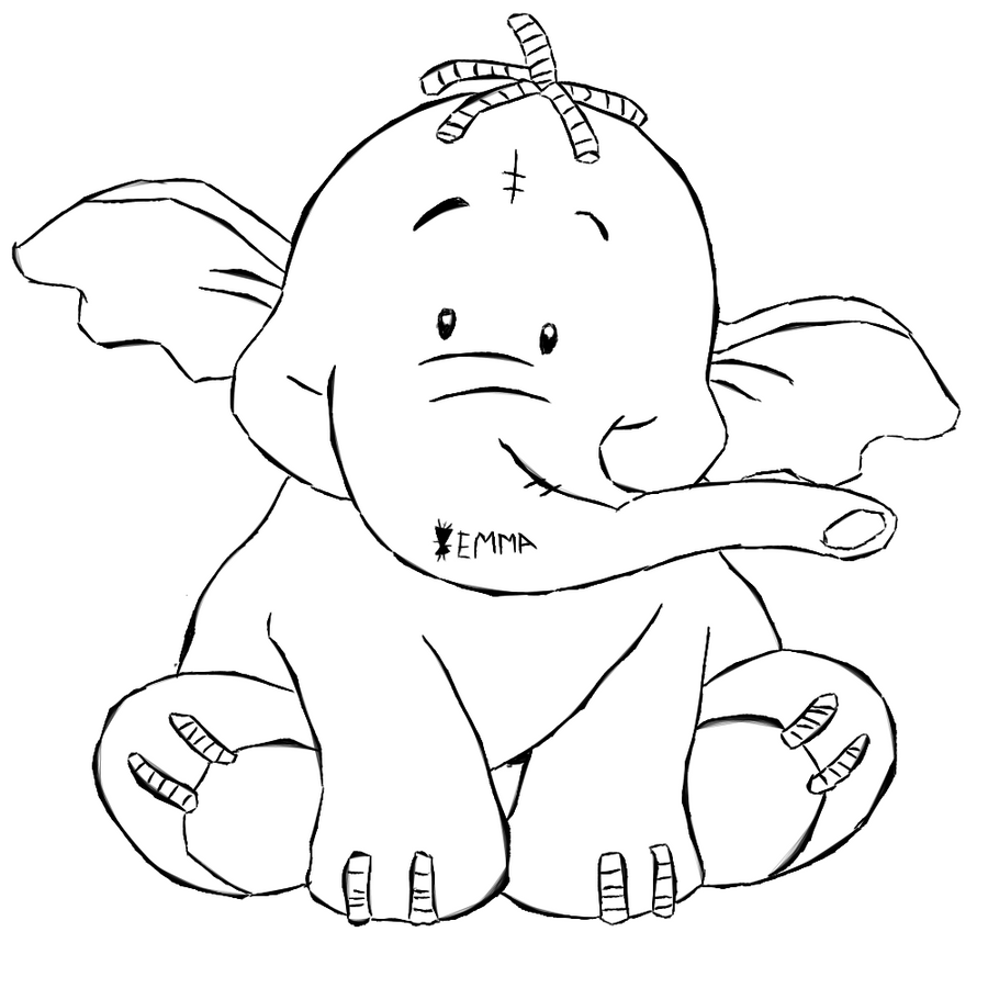 heffalump coloring pages - photo#15