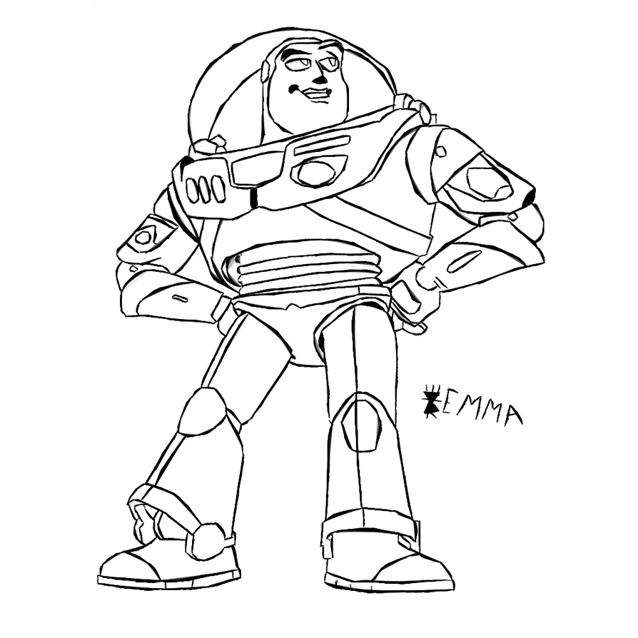 Buzz lightyear by stadsengel2 on deviantart for Flying buzz lightyear coloring page