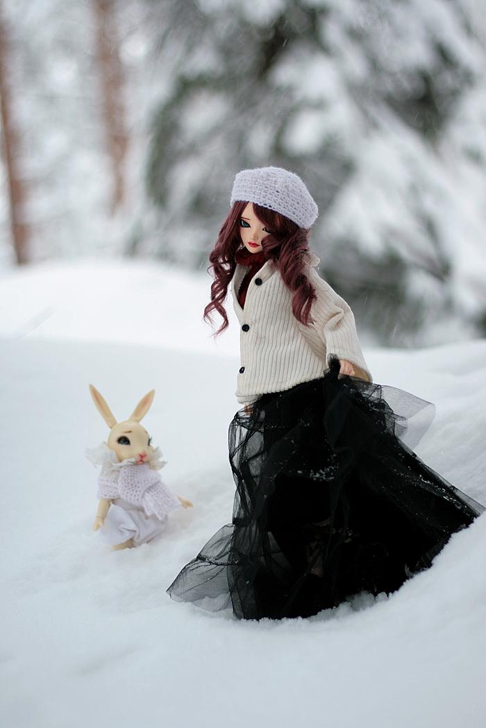 snowy winter by amomiu