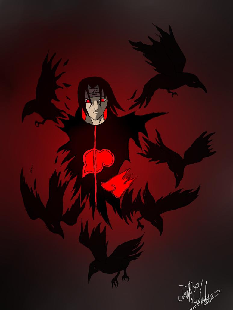 Itachi Crow Clons by neometaleroItachi Crows Wallpaper