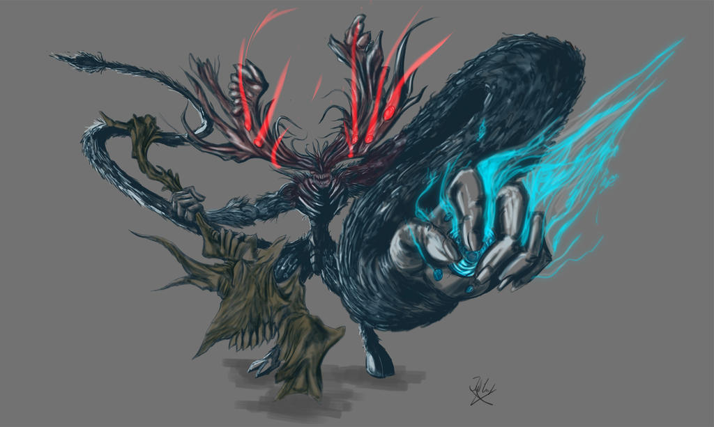 manus dark souls fanart color by neometalero on deviantart