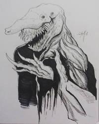 Goblin Shark Creature by neometalero