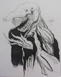 Goblin Shark Creature by neometalero