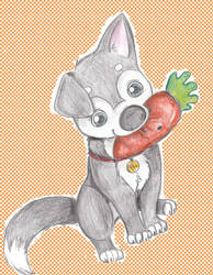 Blu and mr. carrot by Husky-Heart