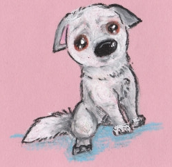 Baby Bolt: the dog face, gift by Husky-Heart