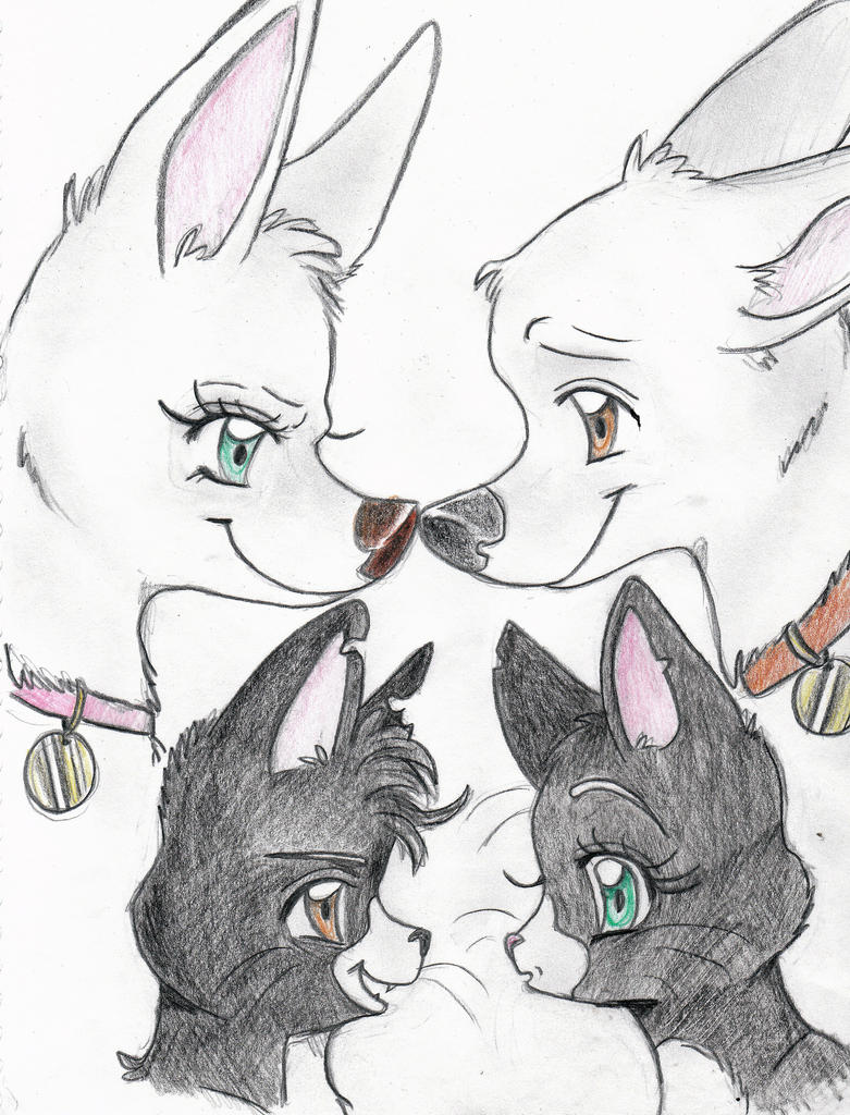 Bolt and Mittens reversed by Husky-Heart