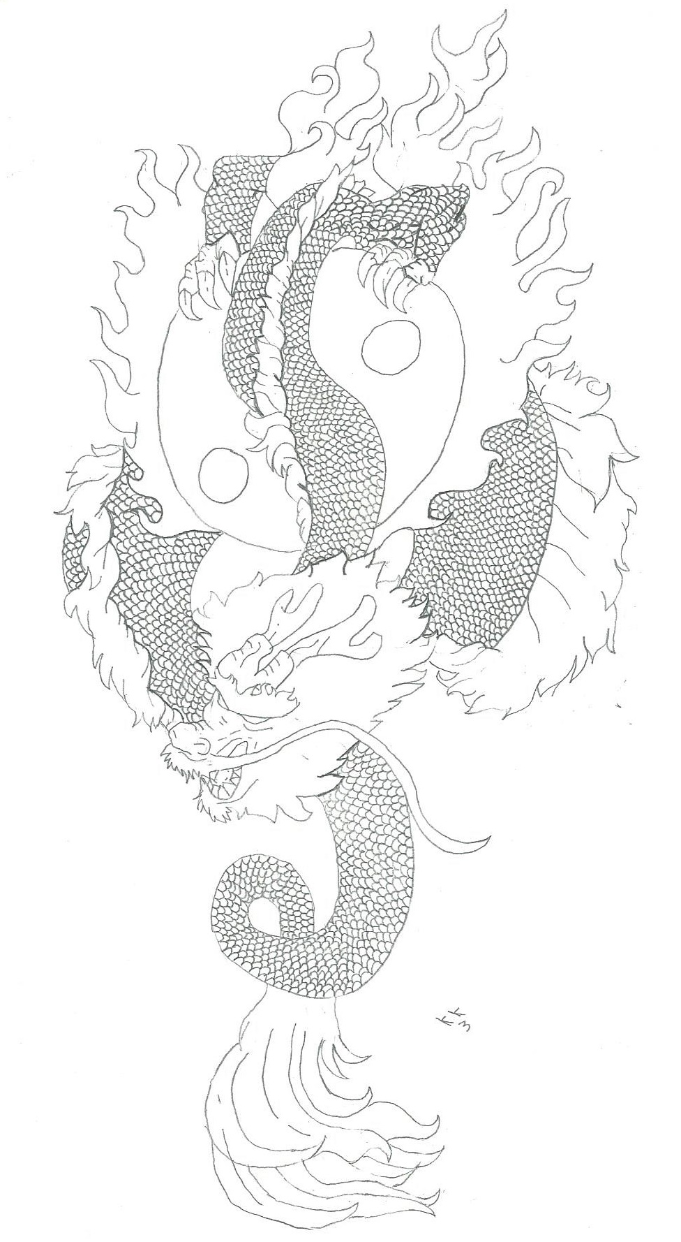 Dragon tatto by kkayla3