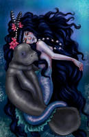 Arunguaiara - The lady of Manatee (Ox-Fish) by CellyMonteiro