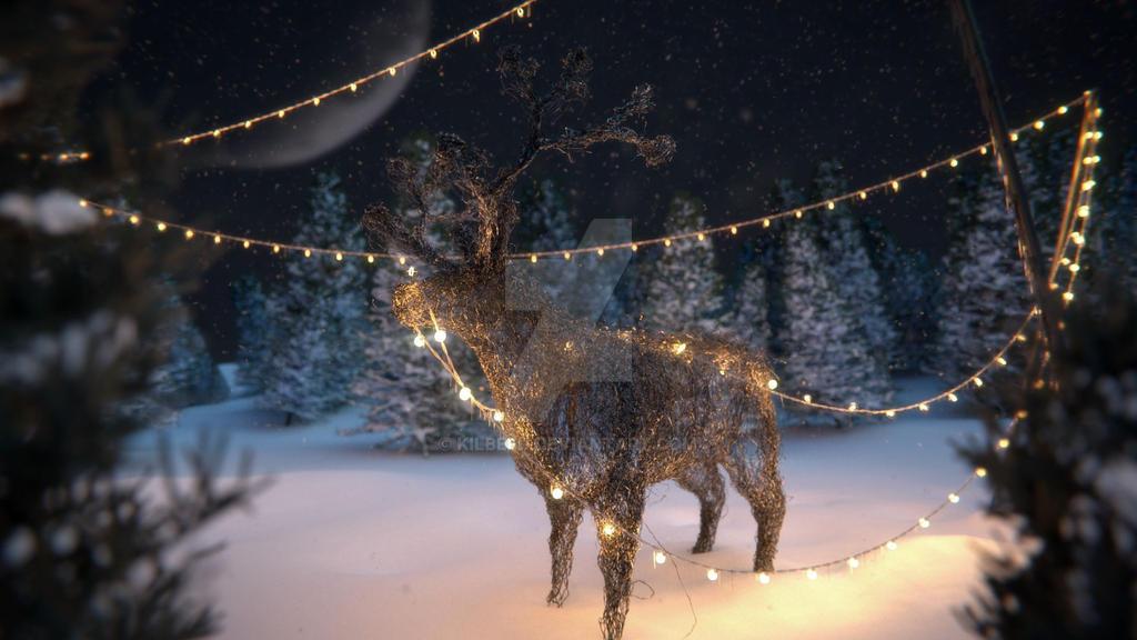 reindeer by kilbeeu