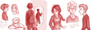 Sketchdump: The Hunger Games by sunni-sideup