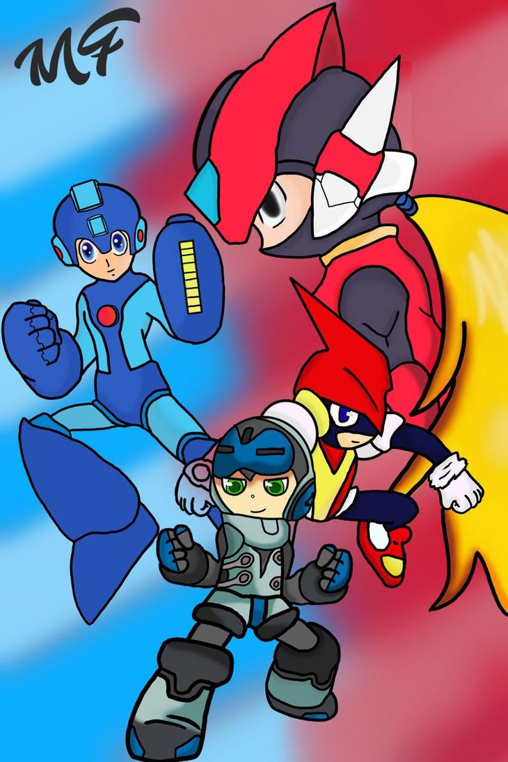 Pulseman , Megaman Zero , Mighty No.9 , MegaMan by manfroste