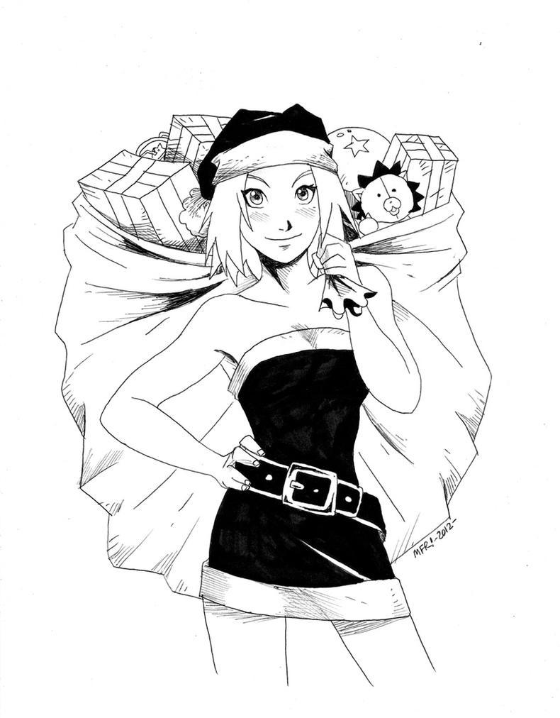 Merry Christmas 2012 - Sakura Haruno by the-pooper