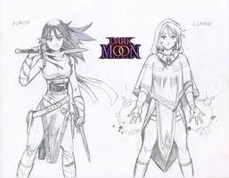 Alaesa and Ismene REDESIGNS - The Dark Moon Saga